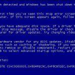 Lỗi màn hình xanh trên máy tính